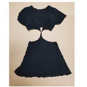 Elan Cut Out Dress Black Women's Size Large